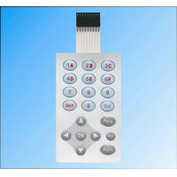 China Multicolored Printed Touch Screen Membrane Keyboard Switch PVC With Tactile Buttons on sale