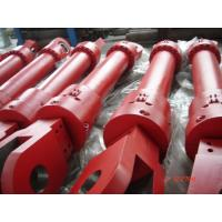 Red Single Acting Hydraulic Ram Lifting Hydraulic Cylinder For Furnace Manufactures