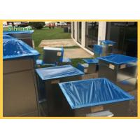 Dust Proof Duct Protection Film , Open Duct Vent - Duct Blue PE Protective Film For Duct Manufactures