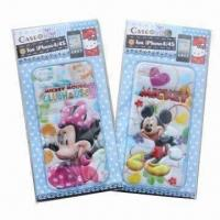 3-D Puffy and Foam Stickers for iPhone, Mickey and Minnie, Customized Designs are Accepted Manufactures