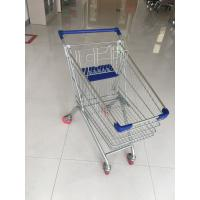 China Steel Supermarket Grocery Shopping Cart With Zinc Plating Clear Powder Coating on sale