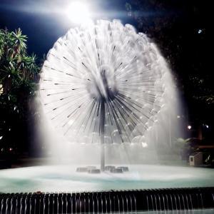 Outdoor and Indoor Garden Ornaments Park Dandelion Water Fountain Manufactures