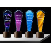 Buy cheap Sandblasting / Lasering Logo Glass And Crystal Trophies , Personalised Glass from wholesalers
