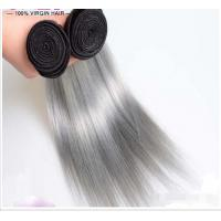 Silver Grey Ombre Human Hair Extensions Unprocessed Straight  Virgin Hair Manufactures