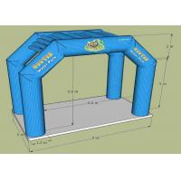 23 Feet  Green Oxford Fabric Inflatable Entrance Arch For Water Park Entrance Manufactures
