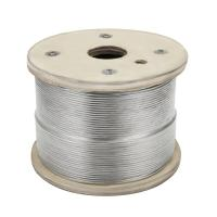 """Cable Railing 1000ft Stainless Wire Rope , 1/8"""" Stranded 1x19 airplane cable Manufactures"""