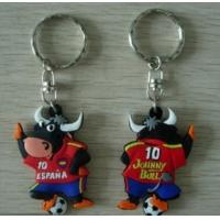 Promotional 3D rubber custom soft pvc keychains with customer Logo Manufactures