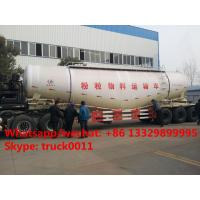 2017s new best price 3 axles 50cbm-90cbm powder material transport semitrailer for sale, bulk cement powder trailer Manufactures