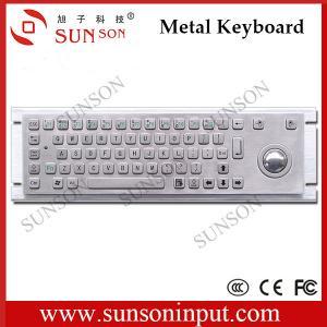 China kiosks manufacturer stainless steel metal keyboard with trackball IP65 IK07 water proof anti-vandalism rugged keyboard on sale
