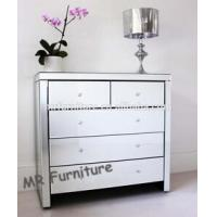 Solid Wood Mirrored Buffet Sideboard Server Credenza80 * 40 * 85cm Size Manufactures