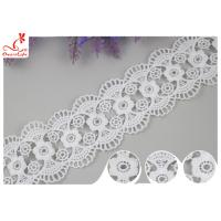Decorative Knitted Water Soluble Cotton Lace Trim For Wedding Dresses Manufactures