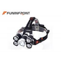 3000 LMs 5 LEDs Outdoor Cree Led Headlamp for Outdoor Emergency Camp Fishing Manufactures