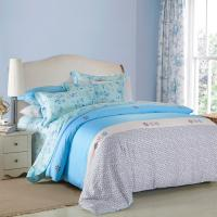 4 Piece Navy Blue Bedding Sets , 100 Percentage Cotton Beautiful Bedroom Bedding Sets Manufactures