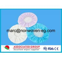 Pre Impregnated Conditioning Rinse Free Shampoo Cap , hair washing shower caps SGS Tested Manufactures