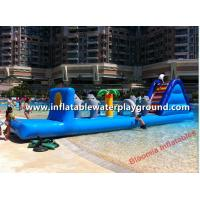 Quality 3mH Inflatable Water Games With Slide , Inflatable Water Obstacle For Pool for sale