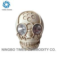Modern Style Stone Solar Lights Waterproof Solar Powered Skull Lights For Halloween Party Manufactures