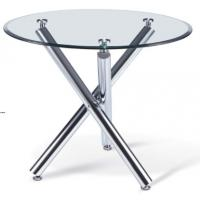 China Modern round glass dining table furniture on sale