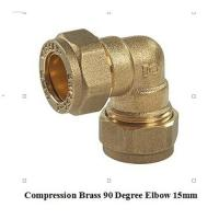 Quality compression fitting elbow 15mm for copper pipe for sale