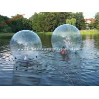 Large Clear Floating Inflatable Walk On Water Ball On Lake / Aqua Zorbing Ball Manufactures