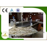 Quality 10 Seats LPG Heating Teppanyaki Japanese Grill Table Upper or Down Exhaustion for sale