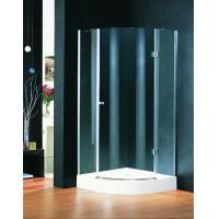 Chrome Plate Hinged Shower Enclosures 800 X 800 , Curved Glass Shower Enclosures Manufactures