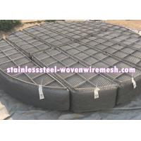 Round Nickel Wire Mesh Demister Pad Mist Eliminator For Chemical Equipment Manufactures