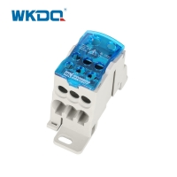Din Rail UKK 125A Unipolar Mini Electrical Power Distribution Terminal Block , Screw Connector Block In Blue and Grey Manufactures