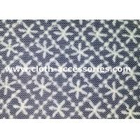 Garment Polyester Geometric Sewing Lace Fabric Square Snow Pattern 1.35M Manufactures