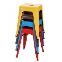 Small Size Metal Event Stool Tolix Dining Chairs in Powder Coating , Yellow Blue Red Manufactures