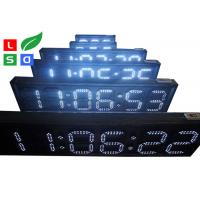 Outdoor White / Red LED Countdown Digit Sign Board With RF Remote Control Manufactures