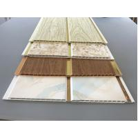 10 Inch Latin America Ceiling Decorative PVC Panels With Golden Lines Manufactures