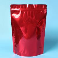 Customized Red Tea Packaging Bags With Zipper / Coffee Bean Pouches Manufactures