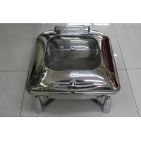 Contemporary Stainless Steel Cookwares  / Chafing Dish Buffet Set Rectangular Shape Manufactures