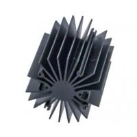 Black Anodizing Aluminum Heatsink Profiles / Heat Sink Profiles For Led Light Manufactures