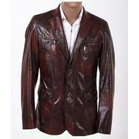 100% Viscose and Knitting, Gentleman Jacket, Luxury and Designer Mens Leather Blazers Manufactures