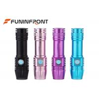Quality MINI USB Direct Charge 365NM UV LED Flashlight with Internal Li-ion Battery for sale