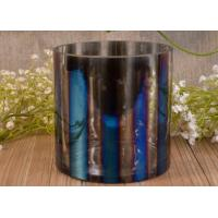 Iridescent Decorative Glass Cylinder Candle Holders Vertical Straight-Walled Ombre Manufactures
