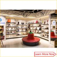 Fashion Designs Wood Shoe Rack Shelves Showcase with lighting decorated Manufactures