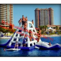 Quality Commercial Grade Floating 0.9mm PVC Tarpaulin Inflatable Water Slide for water park for sale