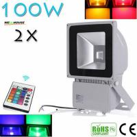 Beautiful Design 100W RGB LED Outdoor Waterproof Flood Light Wash Floodlight Lighting With Remote Controller AC85-265V Manufactures