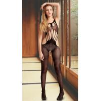 Sexy Bodystockings Wholesale Flowers and Strings Crotchless Bodystocking One Size Fits Most Manufactures