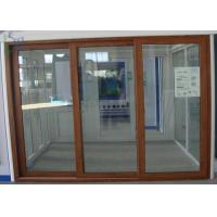 Quality Air Proof Sliding Aluminium Windows , 3 Tracks Aluminium Stacker Doors CSA Certification for sale
