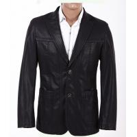 Wholesale Quality Comfortable Men, Black Stylish and Casual Mens Leather Blazers Manufactures