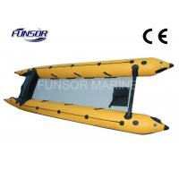 PVC 6 Person Inflatable 4.8m Boat Zapcat Boat With Aluminum Floor Manufactures