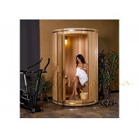 Ball and socket western Canadian red cedar Small Modern Silo Sauna with Electric heater Manufactures
