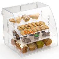 Acrylic Food Display Case Irregular 300pcs with 3 Plastic Trays Curved Front Manufactures