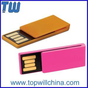 China Slim Mini Plastic Noble Paper Clip Usb Flash Drives Delicate Design for Gifts on sale