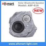 Solar Bluetooth Speaker Resin Stone loudspeaker Lamp PIR Motion Sensor Lighting for Outdoor Garden Patio Backyard Park Manufactures