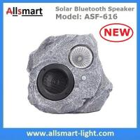 Solar Bluetooth Speaker Resin Stone loudspeaker Lamp PIR Motion Sensor Lighting for Outdoor Garden Patio Backyard Park Manufactures