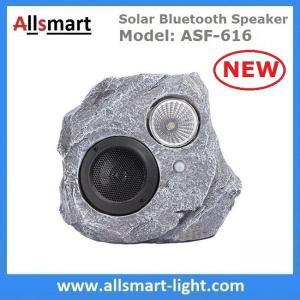 China Solar Bluetooth Speaker Resin Stone loudspeaker Lamp PIR Motion Sensor Lighting for Outdoor Garden Patio Backyard Park on sale